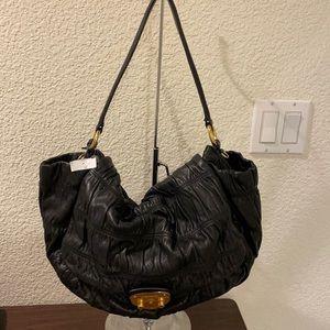 Prada Black Nappa Gaufre Leather